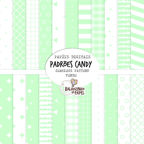 Seamless Pattern - Verde Candy