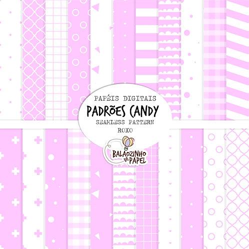 Seamless Pattern - Roxo Candy