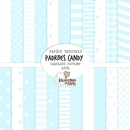 Seamless Pattern - Azul Candy