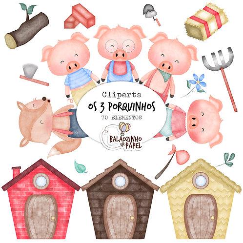 Os 3 Porquinhos - Cliparts
