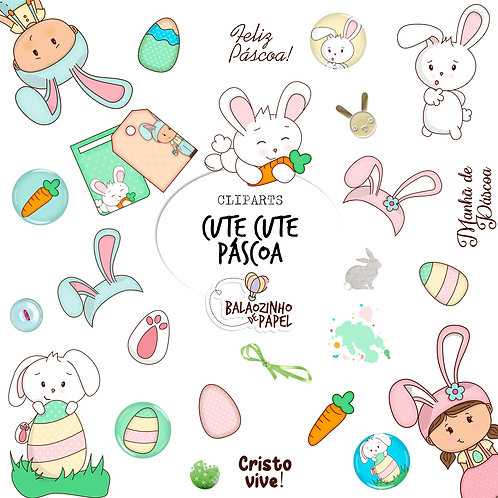 Cute Cute Páscoa - Cliparts