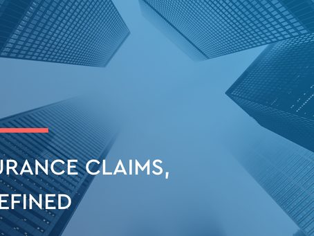 Insurance claims, redefined