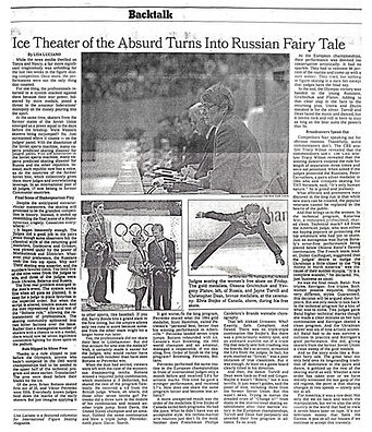 Ice Theatre of the Absurd Turns into Rus
