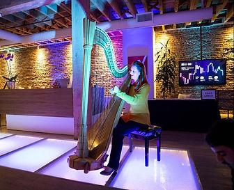 Harp at Winton Music Fund launch, San Francisco