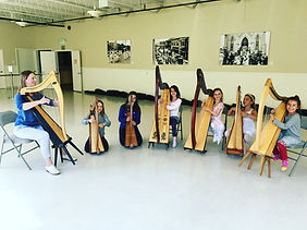 Sarah Goss Harp Teacher Harp Group New Village School Sausalito CA