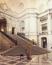 Sarah's harp at San Francisco City Hall