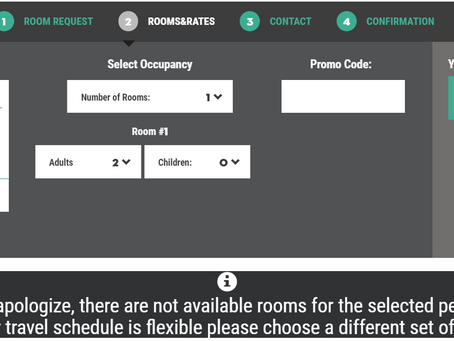 BookOnlineNow | Change of No Availability Message