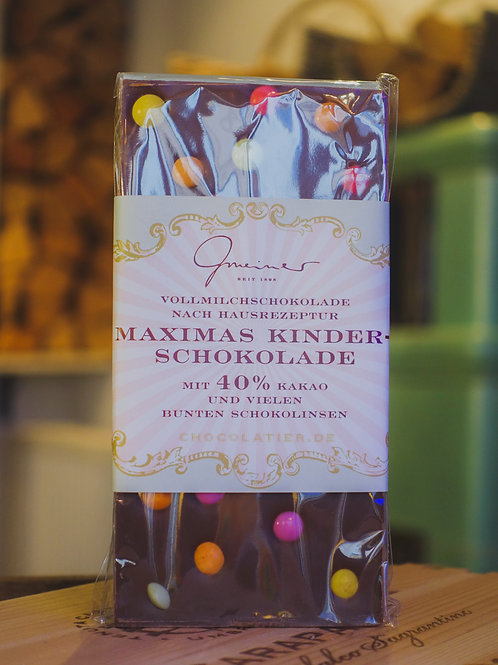 Maximas Kinderschokolade, Confiserie Gmeiner