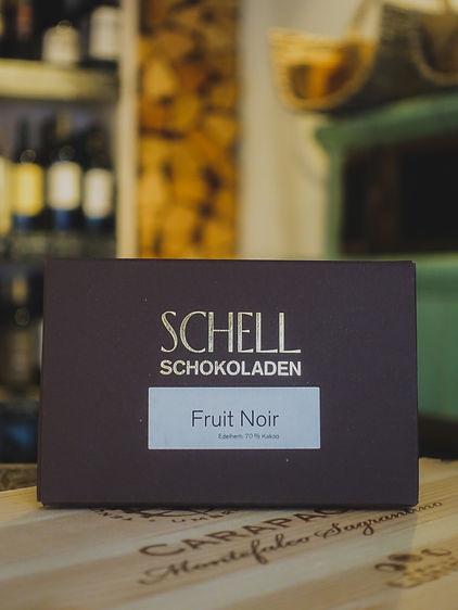 Fruit Noir Edelherb Schokolade, Confiserie Schell