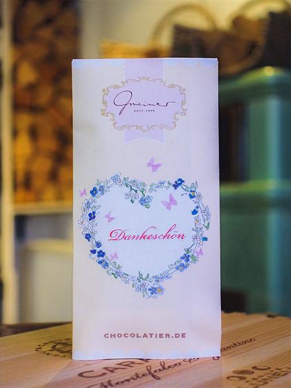 Dankeschön Vollmilchschokolade, Confiserie Gmeiner