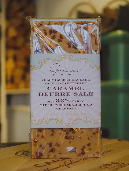 Caramel Beurre Salé Vollmilchschokolade, Confiserie Gmeiner