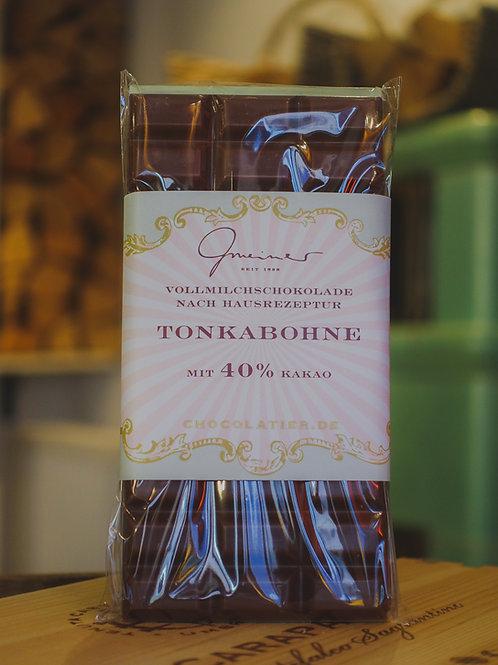 Tonkabohne Vollmilchschokolade, Confiserie Gmeiner