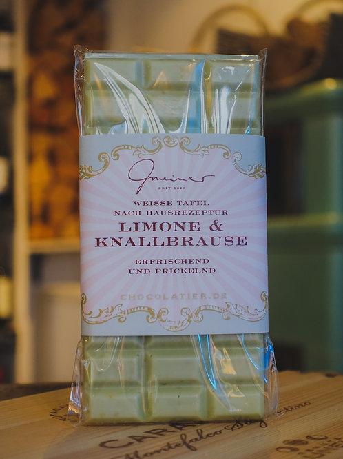 Limonen-Knallbrause Schokolade, Confiserie Gmeiner