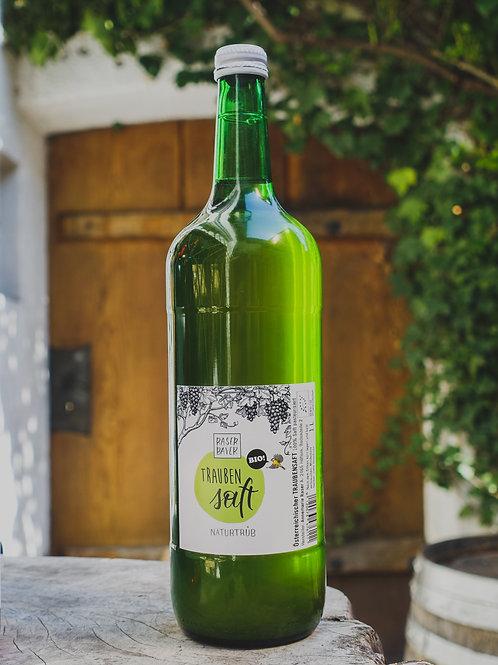 Weißer Traubensaft, naturtrüb, Weingut Raser-Bayer, 1l