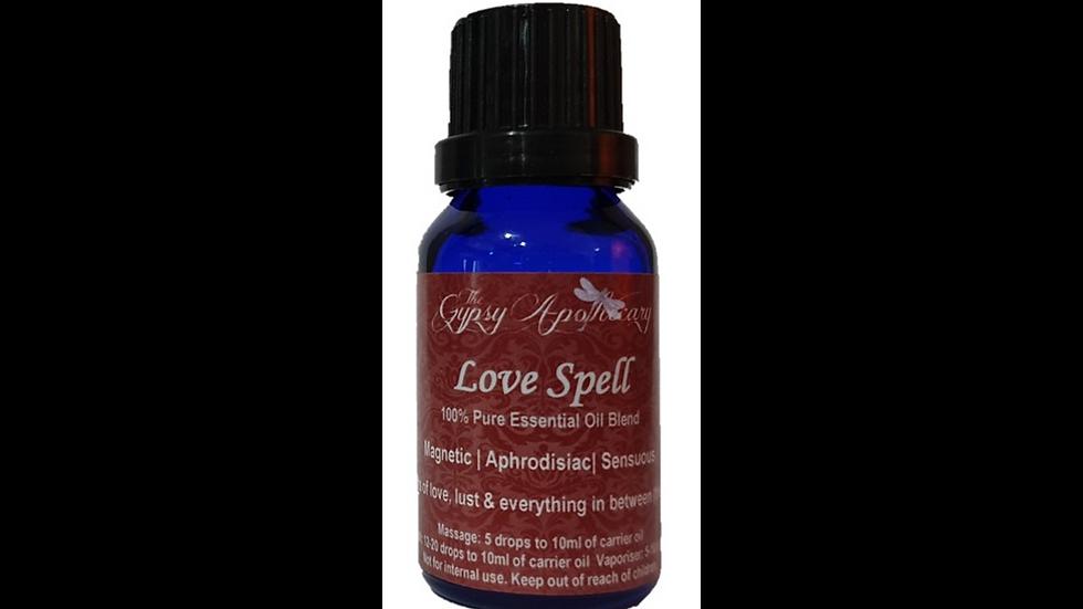Love Spell aphrodisiac sensual aromatherapy essential oil blend