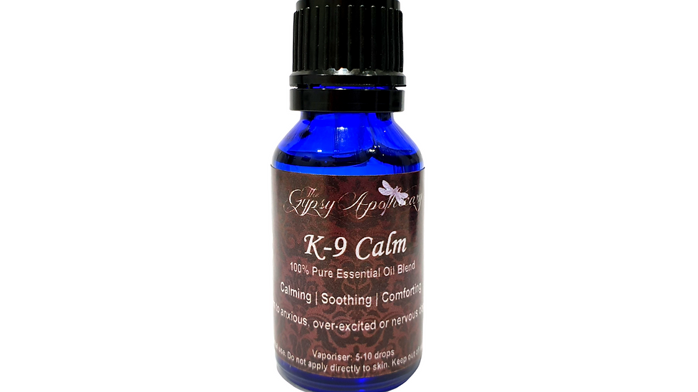 Natural Calming essential oil blend for anxious nervous scared dogs puppies