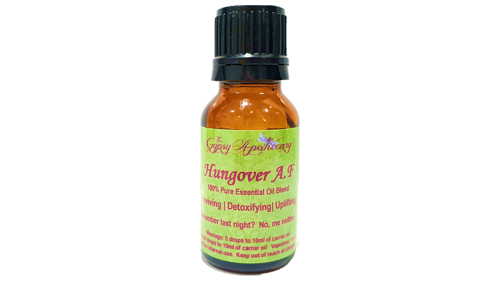 Hungover AF aromatherapy essential oil blend for hangover Brisbane