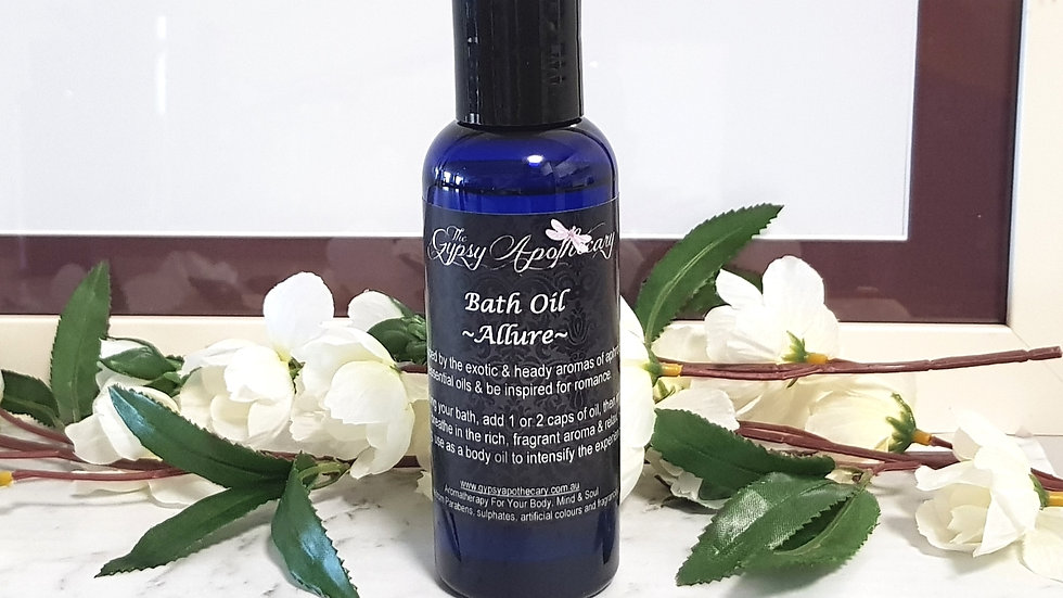 Aromatherapy Natural Bath and Body Oil with Essential Oils Brisbane Australia