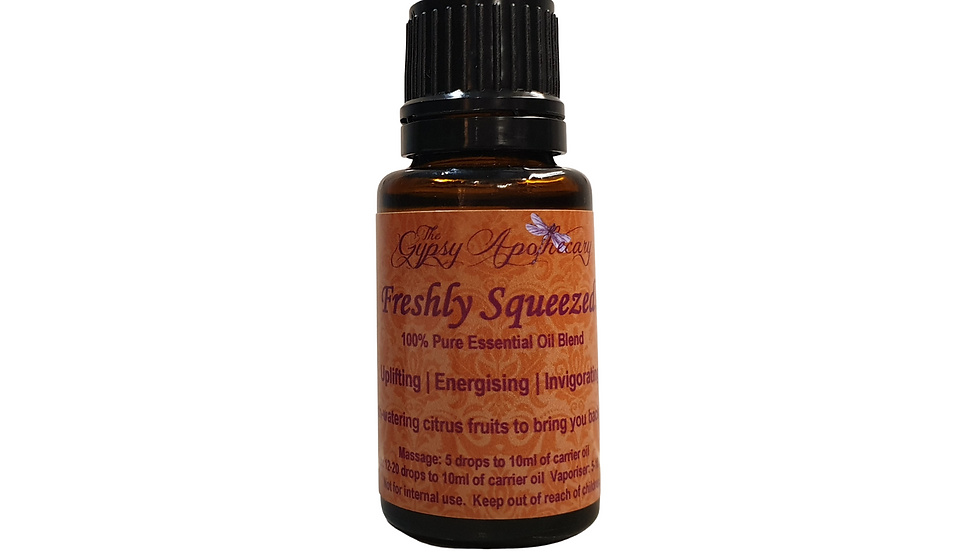 Freshly Squeezed Citrus Essential Oils Invigorating and energising aromatherapy essential oil diffuser blend