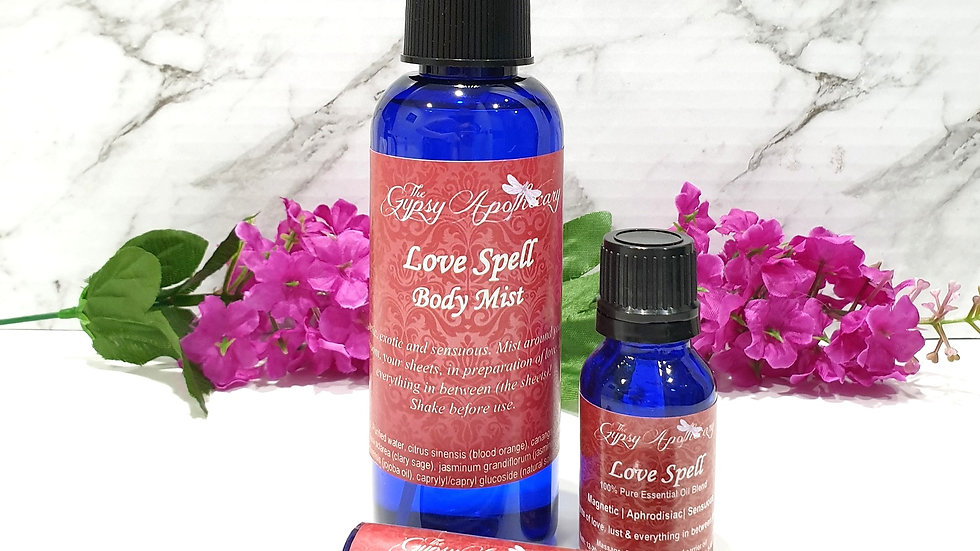 Love Spell aphrodisiac sensual aromatherapy essential oil blend