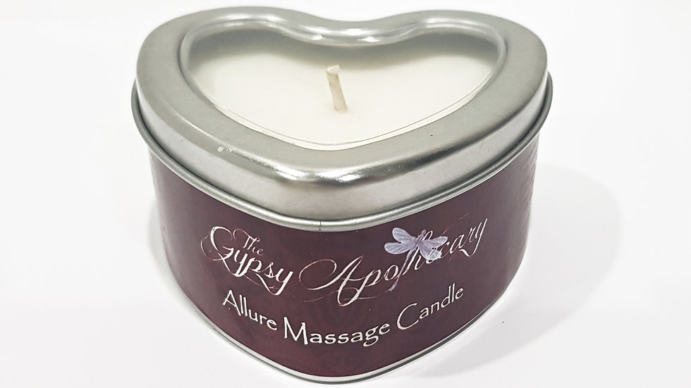 Natural aromatherapy sensual massage candle with essential oils for romance
