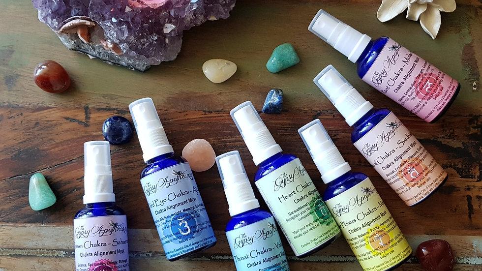 Chakra Aromatherapy Essential Oil Alignment Sprays Mists Brisbane