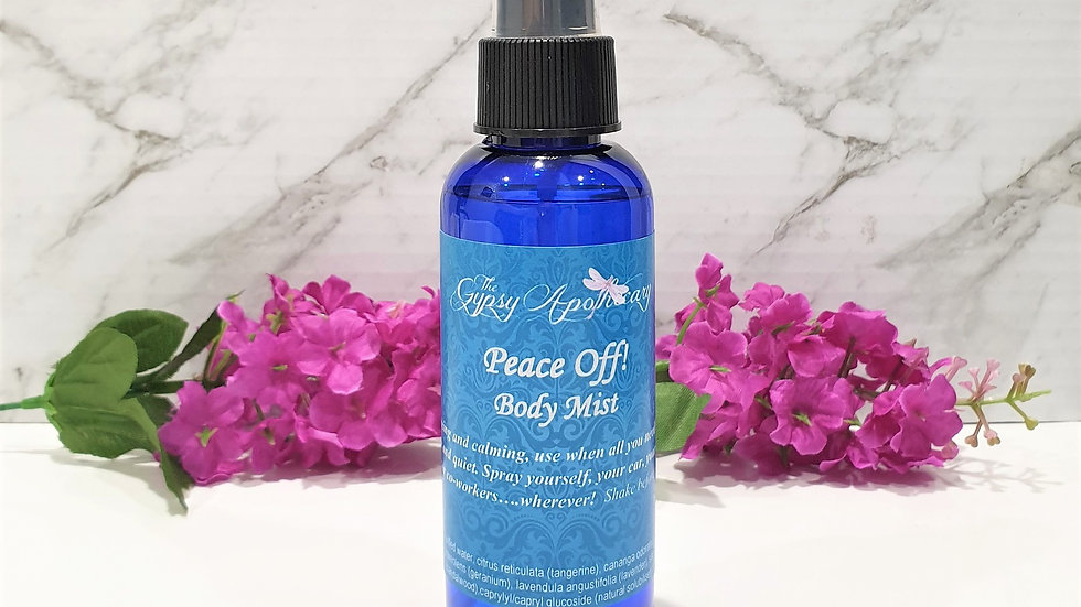 Natural Aromatherapy Essential Oil Blend calming peaceful body mist spray Brisbane