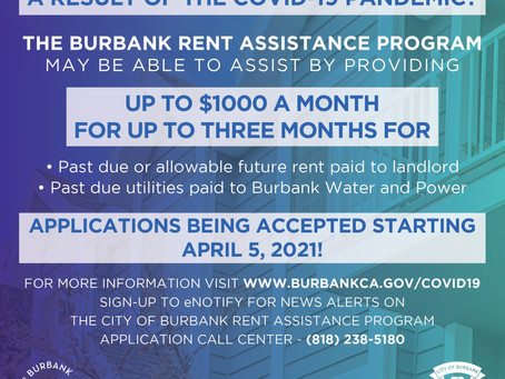 City of Burbank Rental Relief Application