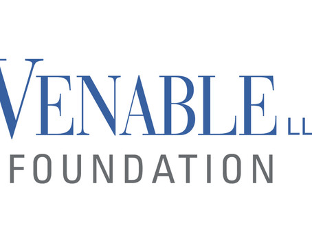 Thank you, Venable Foundation