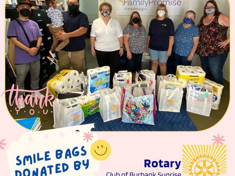 Smile Bags Courtesy of Burbank Sunrise Rotary