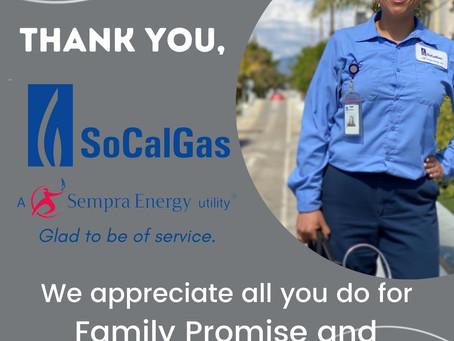 SoCalGas Presents Sponsorship to FPV