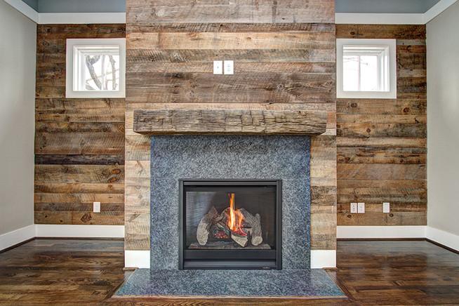 Charlotte Custom Home Fireplace