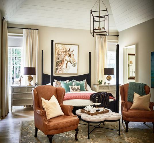 Charlotte Custom Home Master Bedroom