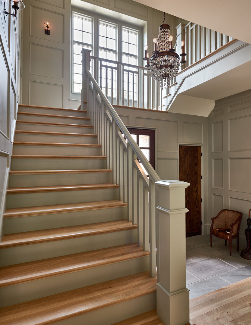 Charlotte Custom Home Foyer Staircase