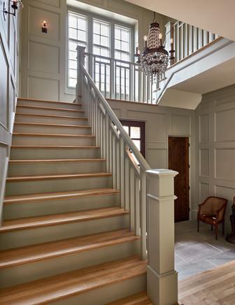 Charlotte Custom Home Foyer Staircase