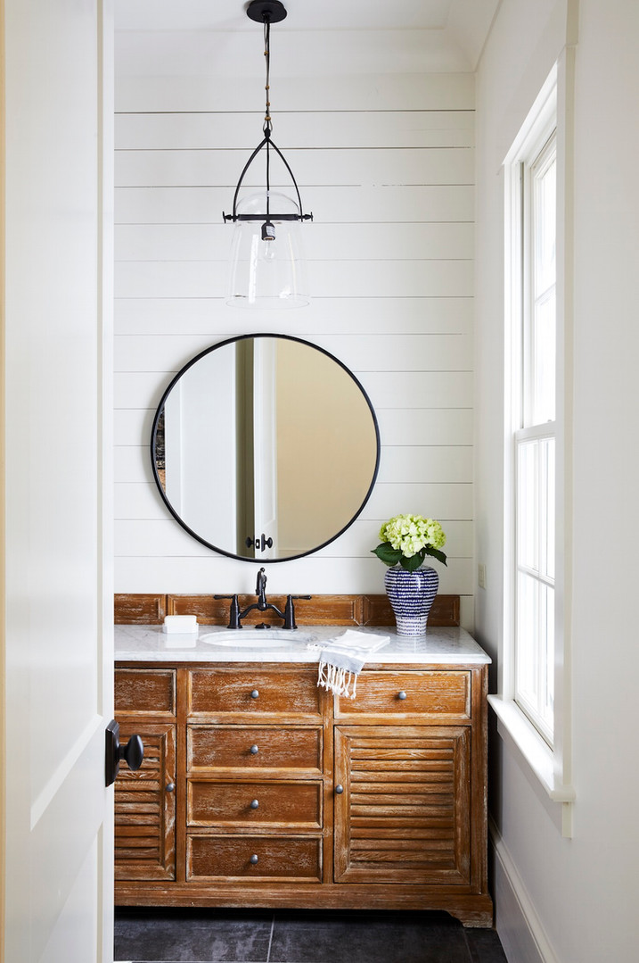 Charlotte Custom Home Powder Room