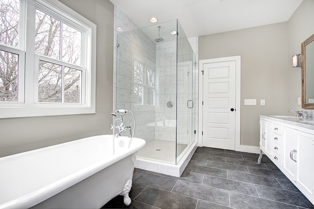 Charlotte Custom Home Master Bathroom
