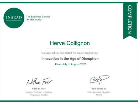 Certification from INSEAD