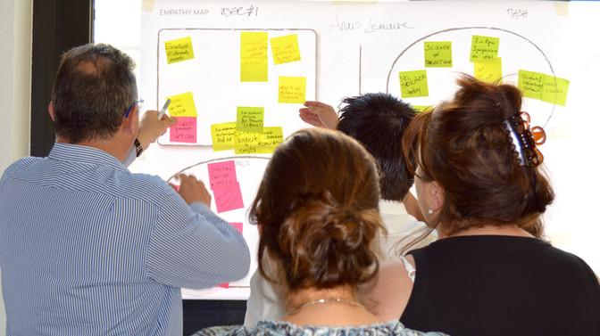 Edwards Lifesciences professional education empathy map