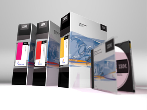 IBM Dassault Systeme co-branded packagings