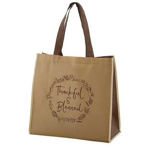 Thankful & Blessed Tote Bag