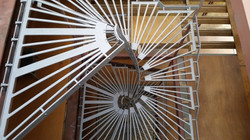 Staircase design business Stairworks built these steel spiral stairs in Auckland