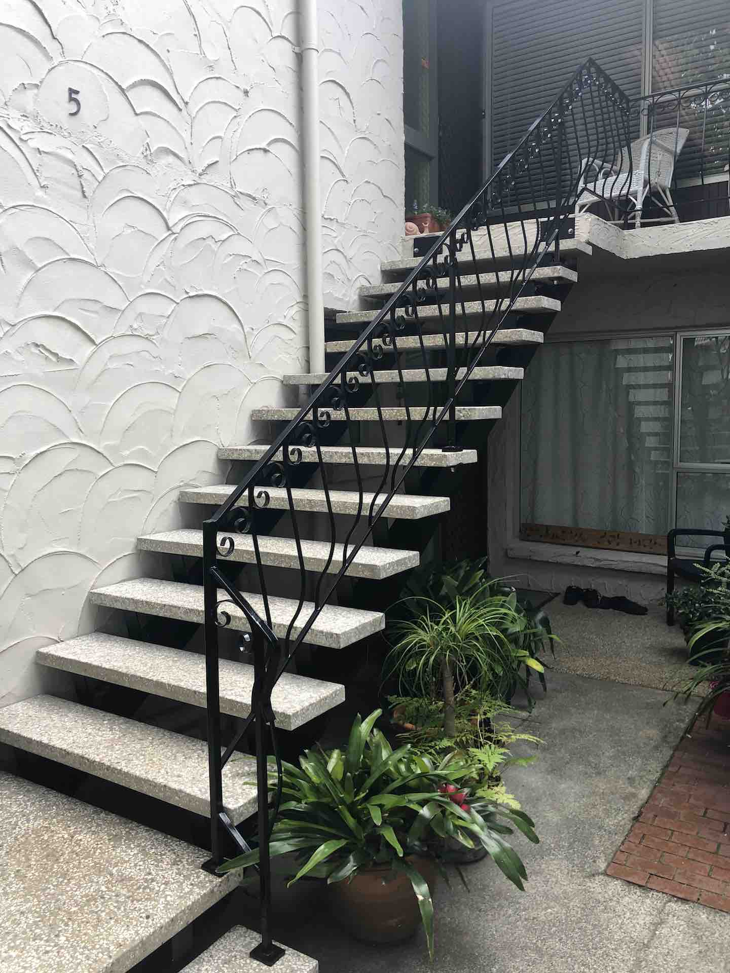Balustrade renovation on exterior staircase project in Auckland