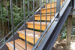 Steel staircase with timber treads
