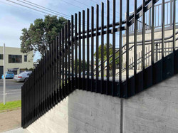 Beautiful metal balustrade outside building in Auckland