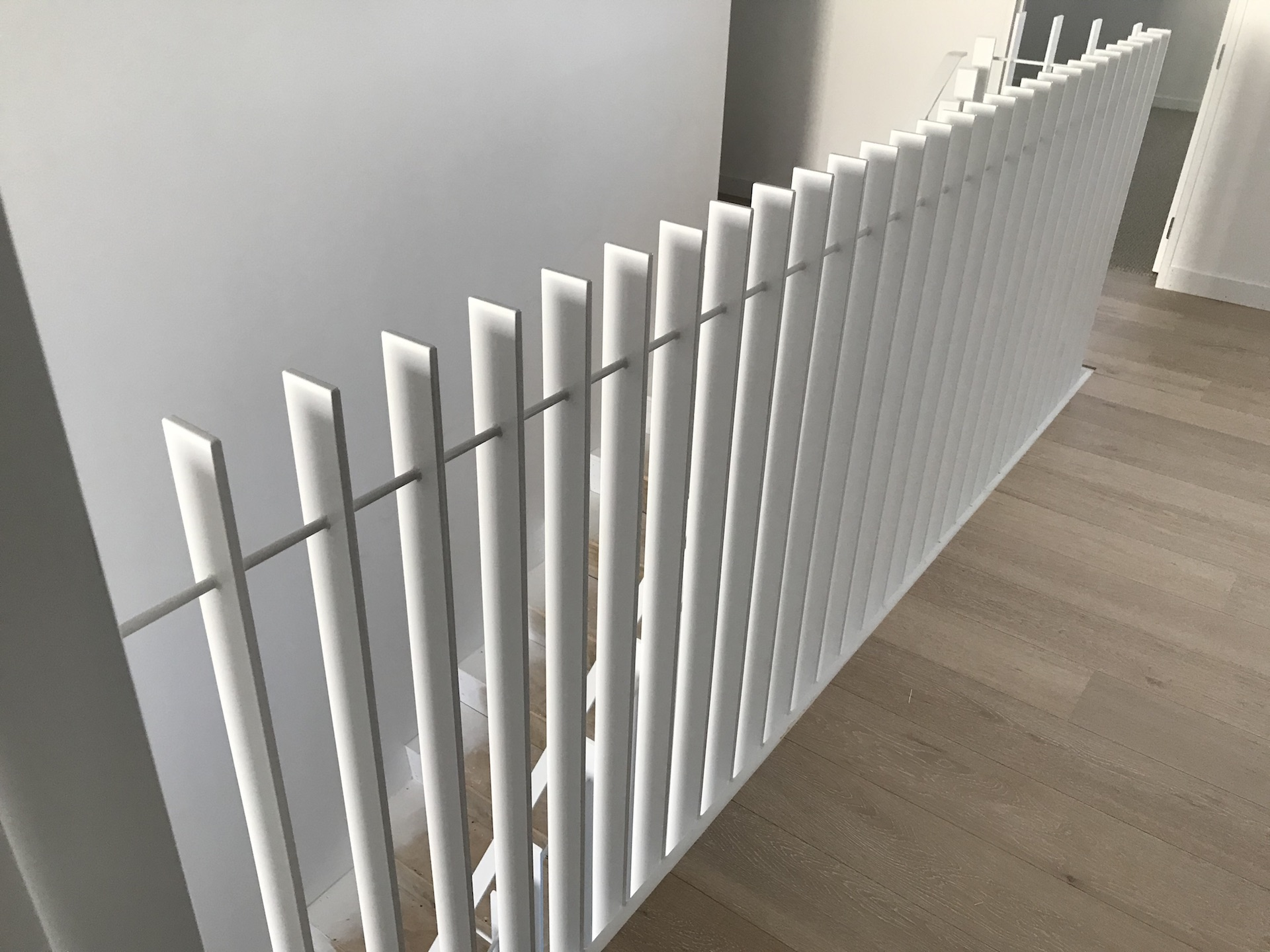 Balustrade manufactured to match the aesthetic of this Auckland home