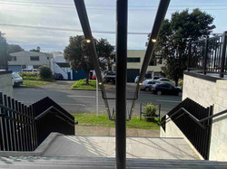 Exterior handrail with LED light inserts