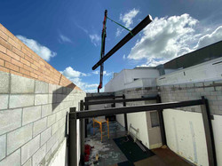 Strong foundational support with structural steel framework