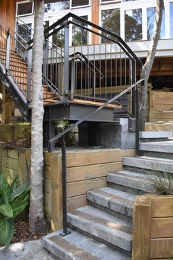 Stairworks designed and built this exterior steel staircase in Auckland