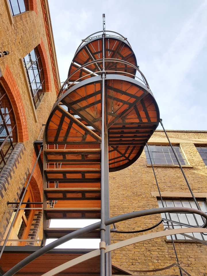 Exterior steel staircase with timber treads designed by Stairworks